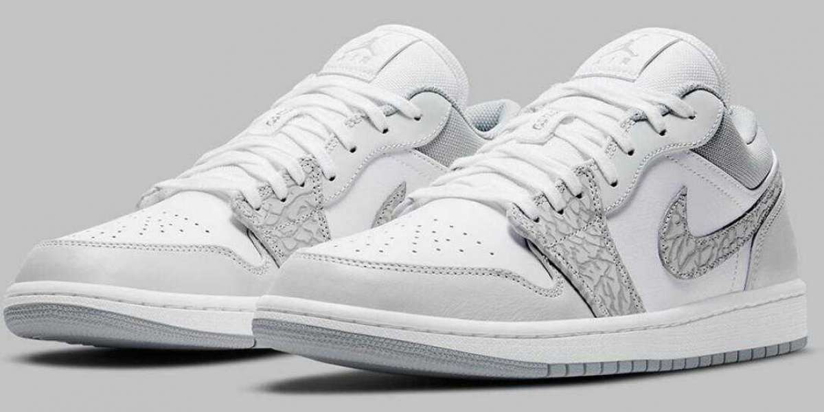 DH4269-100 Air Jordan 1 Low Elephant to Arrive Early 2021