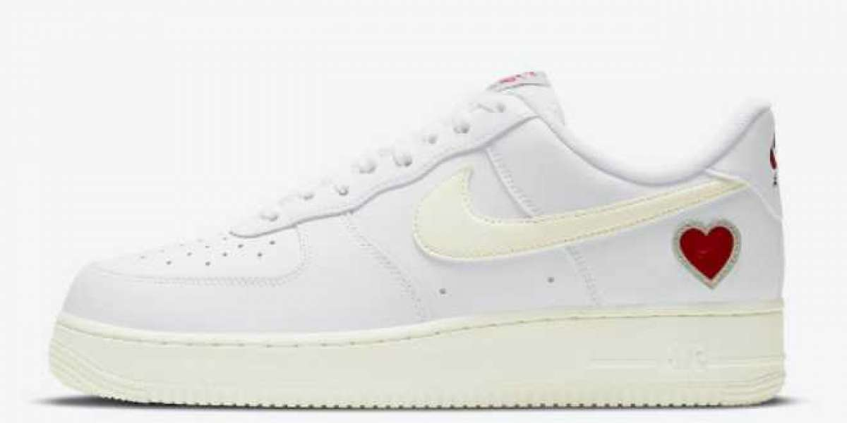2021 Nike Air Force 1 Low Valentines Day Shoes DD7117-100