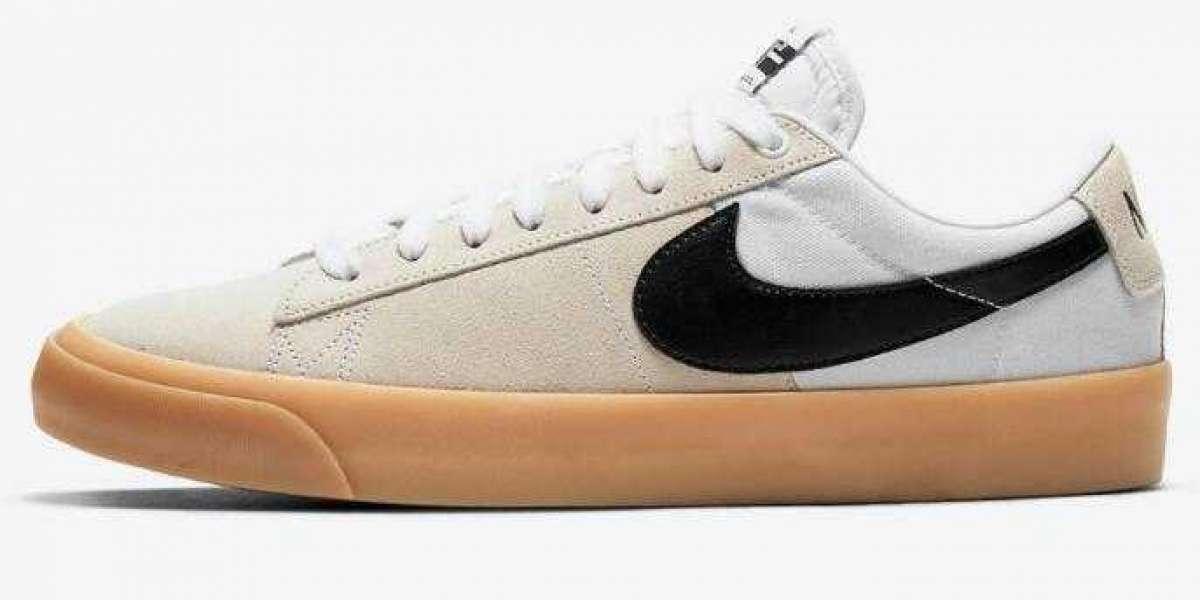 Newest Nike SB Blazer Low Debut the White Gum Colorway